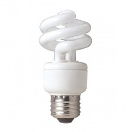 TCP 9 Watt Spiral CFL 4100K 120V 82 CRI Medium (E26) Base Bulb (801009/41K)