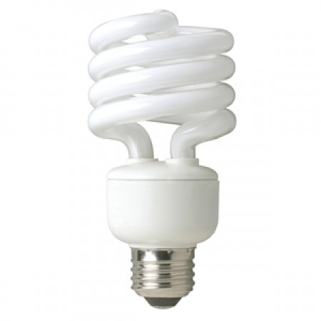 TCP 23 Watt Spiral CFL 2700K 120V 82 CRI Medium (E26) Base Bulb (801023)