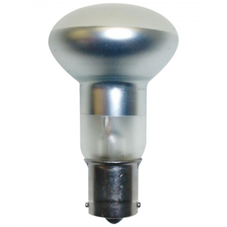 "1.54 Amp 2.5"" R12 Incandescent 13V Single Contact Bayonet (BA15s) Base Frosted Miniature Bulb (#1383)"