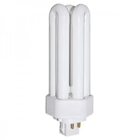 GE 26 Watt T4 Triple Tube CFL 3000K 82 CRI 4 Pin (GX24q-3) Plug-In Base Bulb (F26TBX/830/A/ECO)