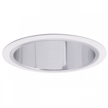 "Nora NTS-31W 6"" Open Clear Reflector with White Trim"