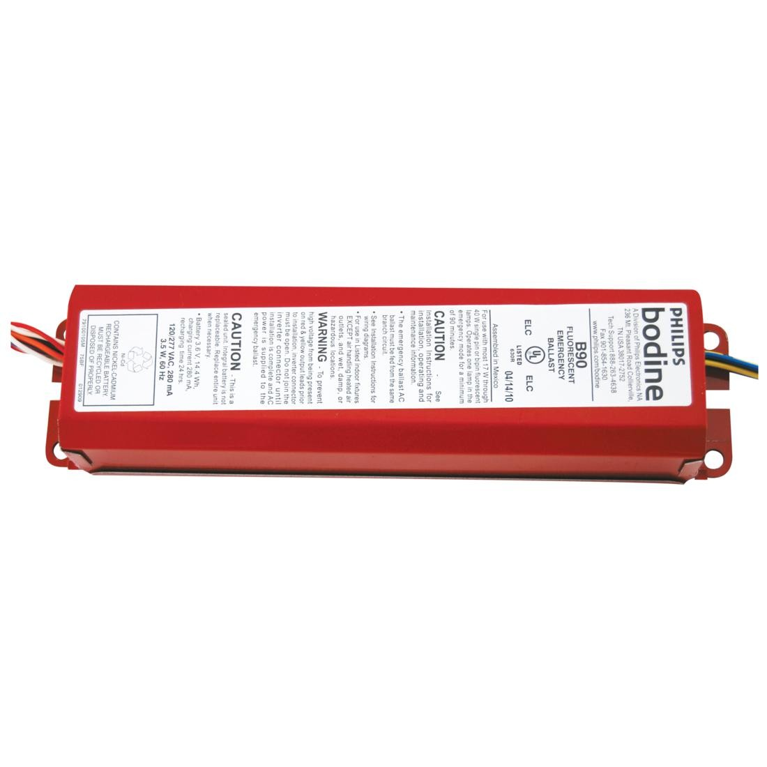 WPCFL_BAL_EMERG_B90_BODINE fluorescent emergency back up batteries ballasts bodine b90 emergency ballast wiring diagram at gsmx.co