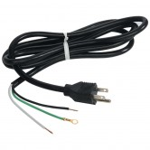 9 Foot Cord & Plug 16 Gauge 3 Wire, NEMA 5-15P 105C 13A, 125V(16/3/9FT/PIGTAIL)