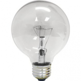 GE 60 Watt G40 Incandescent 120V Medium (E26) Base Clear Globe Bulb (C/O GE 24988) (60G40/CL120V)