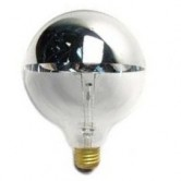 40 Watt G25 Incandescent 120V Medium (E26) Base Clear Silver Bowl Globe Bulb (40G25/SB/CL/120)