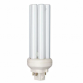 Philips 32 Watt PL Triple Tube CFL 3500K 82 CRI 4 Pin (GX24q-3) Plug-In Base Bulb (PL-T32W/835/A/4P/ALTO)