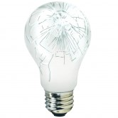 75 Watt A19 Incandescent 130V Medium (E26) Base Teflon Shatter Resistant Coated Bulb (75A/TEF)