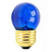 7.5 Watt S11 Incandescent 130V Medium (E26) Base Transparent Blue Sign Bulb (7.5S11/TB130)