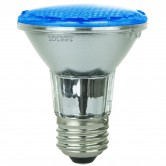 Sunlite 3 Watt PAR20 LED 120V-220V 30 Lumen Colored Reflector Light Bulb Medium (E26) Base, Blue (80001-SU)