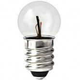 GE .3 Amp G4.5 Incandescent 4.9V Mini Screw Base Clear Miniature Bulb (#407)