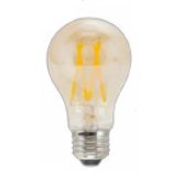 TCP 5 Watt A19 LED 2500K 120V 450 Lumen 80 CRI Medium (E26) Base Amber Dimmable Edison Bulb (LFA4025AD)