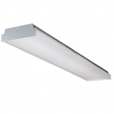"40 Watt 48"" LED 0-10V Dimmable Wrap Fixture with Acrylic Lens - 4000K 120V-277V 80 CRI 5200 Lumen Fixture - DLC Premium (BWALED4FT-40-4KMV-ET)"