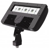 Lithonia 54 Watt LED Floodlight - 5000K 120V-277V 70 CRI 7794 Lumen Wide Flood Dark Bronze Fixture - Knuckle Mounting - DLC Premium (DSXF2 LED P1 50K)