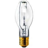GE 150 Watt ET23.5 High Pressure Sodium 2100K Mogul (E39) Base Clear Bulb - S55/O (LU150/55/H/ECO)