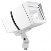 RAB 39 Watt LED Floodlight - 5000K 120V-277V 71 CRI 5666 Lumen White Fixture - Mounting Arm - DLC Standard (FFLED39W)