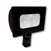 "Cree 118 Watt LED Narrow Floodlight - 4000K 120-277V 70 CRI 13,500 Lumen Dark Bronze Fixture - Includes 2"" Adjustable Filter (C-FL-A-RTS2-13L-40K-DB)"