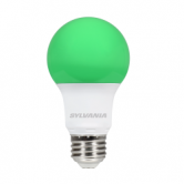 Sylvania 8.5 Watt A19 LED 120V Medium (E26) Base Green Bulb (LED8.5A19GREEN10YVBL)