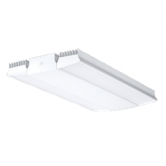 "RAB 225 Watt 30"" LED High Bay Fixture with Frosted Lens - 5000K 120V-277V 74 CRI 27,279 Lumen White Fixture - Includes V-Hooks (Chain Not Included) (RAIL225W)"