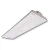 "Cree 220 Watt 46"" LED 0-10V Dimmable White Linear High Bay Fixture with Clear Acrylic Lens - 4000K 120V-277V 80 CRI 27,000 Lumen - Includes V-Hook and 36"" Chain - DLC Premium (C-PHB-A-L4F-27L-40K-WH)"