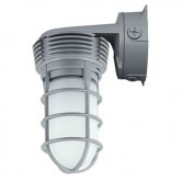 Hubbell 11 Watt LED Vaportight Jelly Jar Wallpack - 4000K 120V-277V 80 CRI 757 Lumen Gray Fixture - Includes Guard (VWGL-1)