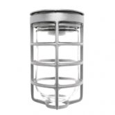 RAB Incandescent Jelly Jar Cage Fixture with Clear Glass Globe - for 100 Watt A19 Lamp (Lamp Not Included) (VC100DG)