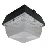 Lumecon 24 Watt LED Dark Bronze Small Canopy Fixture - 4000K 120V-277V 81 CRI 2217 Lumen - DLC Listed (LC-SM-DB-1-NW-X)