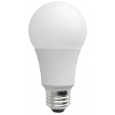 TCP 7 Watt A19 LED 4100K 120V 500 Lumen 82 CRI Medium (E26) Base Dimmable Bulb (LED7A19D41K)