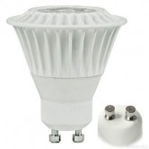 TCP 7 Watt MR16 LED 2700K 120V 500 Lumen 82 CRI GU10 Base White Dimmable Flood Bulb (LED7GU10MR1627KFL)