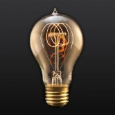 25 Watt A19 Incandescent 120V Medium (E26) Base Victorian Quad Loop Tungsten Filament Edison Bulb (LSC25-VICTOR)