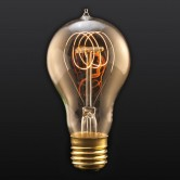 40 Watt A21 Incandescent 120V Medium (E26) Base Victorian Quad Loop Tungsten Filament Edison Bulb (LSC40-VICT/A21)