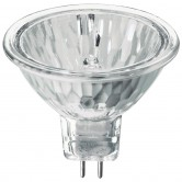 50 Watt MR16 Halogen 120V Bipin (GX5.3) Base Clear Covered Glass Flood Bulb - EXN (JDR9523P)