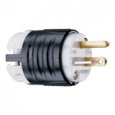 Pass and Seymour Plug Black & White 20 Amp 125V 2 Pole 3 Wire - Extra Hard Use Specification Grade (PS5366X)
