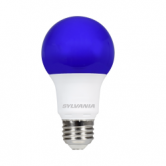Sylvania 8.5 Watt A19 LED 120V Medium (E26) Base Purple Bulb (LED8.5A19PURPLE10YVBL)