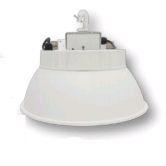 "Cree 160W 16"" LED Round White High Bay Fixture with Aluminum Reflector - 5000K 120V-277V 70 CRI 18, 500 Lumen - Includes Hook and 6' Cord with Straight Blade Plug (Lens not included) (C-HB-A-RDAL-18L-50K-WH)"