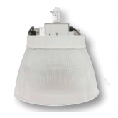 "Cree 160W 16"" LED Round White High Bay Fixture with Prismatic Reflector - 5000K 120V-277V 70 CRI 18,500 Lumen - Includes Hook and 6' Cord with Straight Blade Plug (Lens not included) (C-HB-A-RDPC-18L-50K-WH)"
