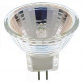 Satco 10 watt; Halogen; MR11; 2000 Average rated hours; Sub Miniature 2 Pin base; 12 volts (10MR11/SP)