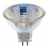 Satco 10 watt; Halogen; MR16; 2000 Average rated hours; Miniature 2 Pin Round base; 12 volts (10MR16/NFL)