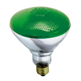 Satco 100 watt BR38 Incandescent; Green; 2000 Average rated hours; Medium base; 120 volts (100BR38/G)