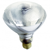 Satco 100 watt BR38 Incandescent; Clear Heat; 5000 Average rated hours; Medium base; 120 volts (100BR38/CLEAR HEAT)