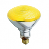 Satco 100 watt BR38 Incandescent; Yellow; 2000 Average rated hours; Medium base; 230 volts (100/BR38/Y/230V)