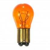 Satco 26.88 watt miniature; S8; 1200 Average rated hours; DC Bay base; Amber; 12.8 volts (1157NA)
