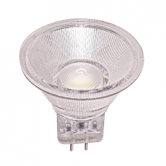 Satco 1.6 watt; LED MR11 LED; 3000K; 40' beam spread; G4 base; 12 volts (1.6MR11/LED/40'/3000K/12V/D)