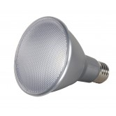 Satco  13 watt PAR30 Long Neck LED; 4000K; 60' beam spread; Medium base; 120 volts  (13PAR30/LN/LED/60/4000K/120V/D)