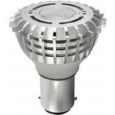 Satco  2 watt; ALR12 LED; 3000K; Double Contact base; 12 volts  (2WLED/GBF/Elevator/12V)