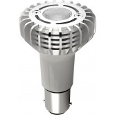 Satco  3 watt; R12 LED; 3000K; 40' beam spread; Bayonet Single Contact Base; 12 volts  (3WLED/1383/Elevator/12V)