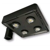 Cree 119 Watt LED Type V Distribution Shoe Box - 4000K 120V-277V 70 CRI 16,100 Lumen Dark Bronze Fixture - DLC Premium (C-AR-A-SQT5-16L-40K-DB)