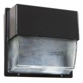 Lithonia 39 Watt LED Type III Medium Distribution Wallpack - 5000K 120V-277V 70 CRI 3398 Lumen Bronze Fixture (TWHLED10C50K)