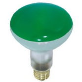 65 Watt BR30 Incandescent 130V Medium (E26) Base Green Flood Bulb (65BR30/GREEN)