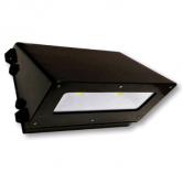 Cree 66 Watt LED Traditional Full Cutoff Wallpack with Tempered Glass Lens and White Polycarbonate Reflector - 5000K 120V-277V 70 CRI 6600 Lumen Dark Bronze Fixture (C-WP-A-TRFC-6L-50K-DB)