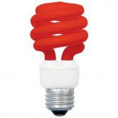 13 Watt Spiral CFL 120V Medium (E26) Base Red Bulb (SM13/RED)